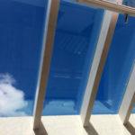 copertura alluminio strutturale con vetro camera 8mm temperato a