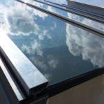 copertura alluminio strutturale con vetro camera 8mm temperato a controllo solare