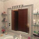 specchio da bagno in muratura